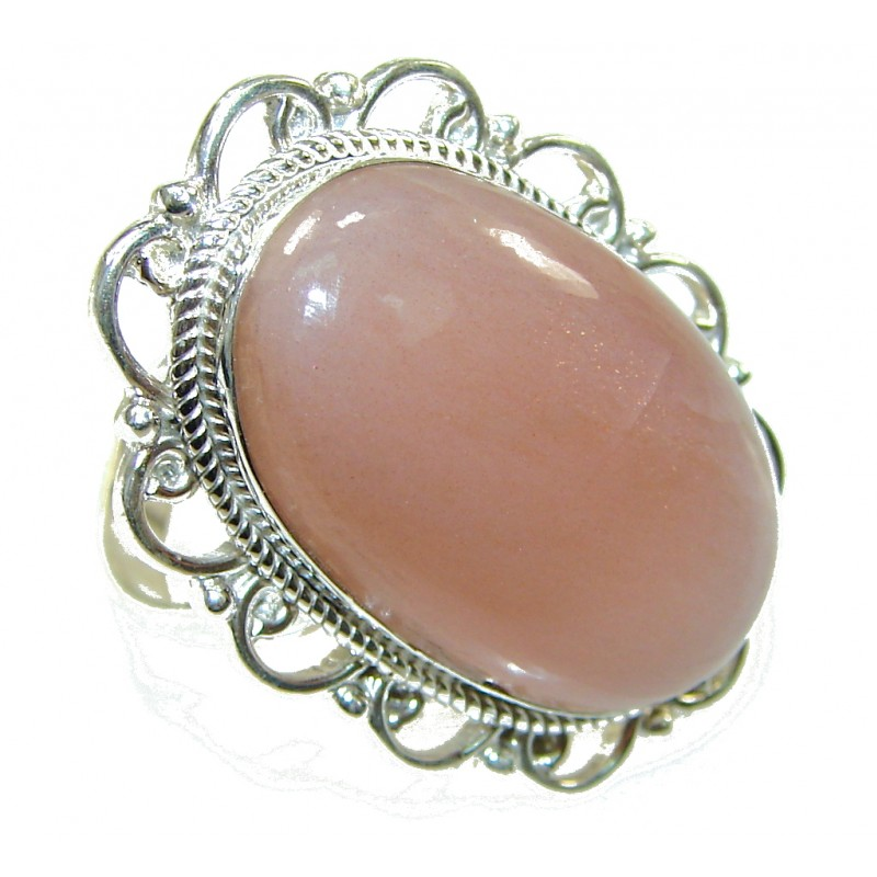 Awesome Color Of Golden Calcite Sterling Silver Ring s. 7 1/4
