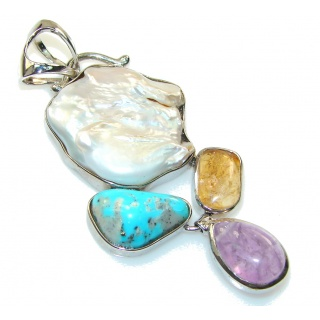 Store Of Love Mother Of Pearl Sterling Silver Pendant