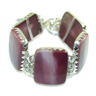 Awesome Brown Mookaite Sterling Silver Bracelet