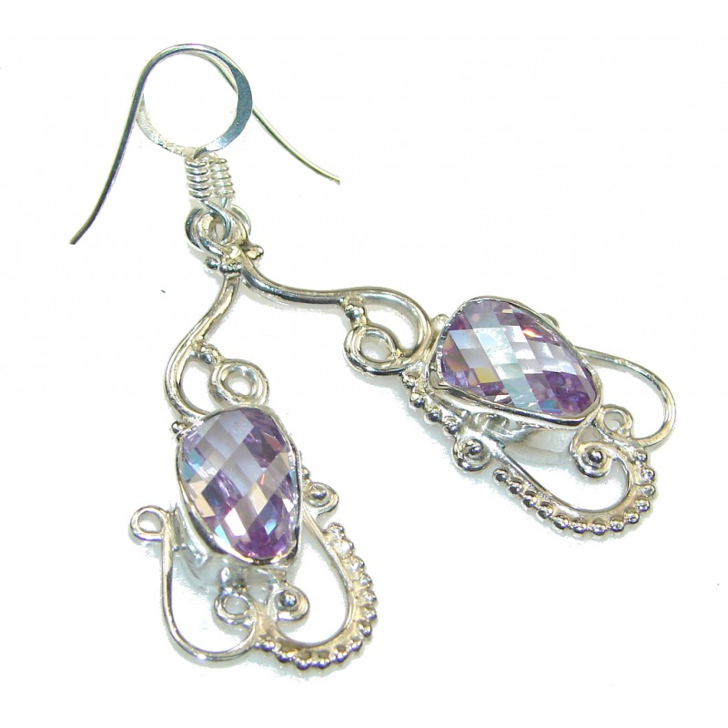 Delicate Lilac Quartz Sterling Silver Earrings