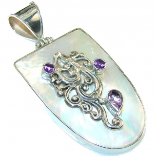 Stylish!! Blister Pearl Sterling Silver pendant
