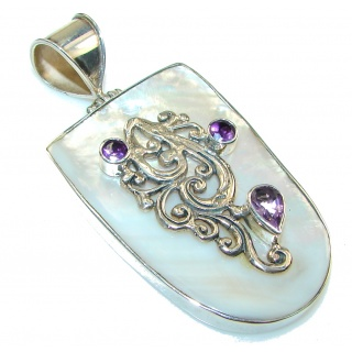Secret Design!! Blister Pearl Sterling Silver pendant