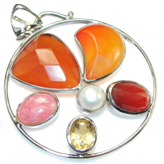 Big Maya Dream! Agate Sterling Silver Pendant
