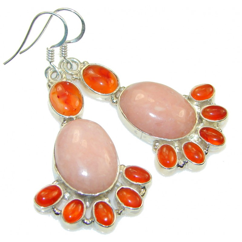 Classy! Pink Opal Sterling Silver earrings