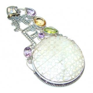Fashion Style!! Blister Pearl Sterling Silver pendant