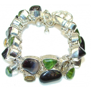 Aura Of Beauty!! Agate Sterling Silver Bracelet