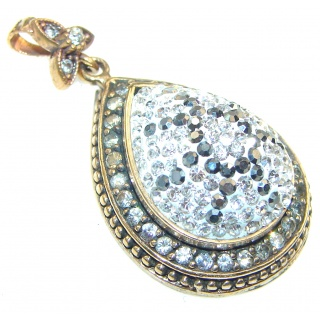 Secret!! White Topaz Sterling Silver pendant