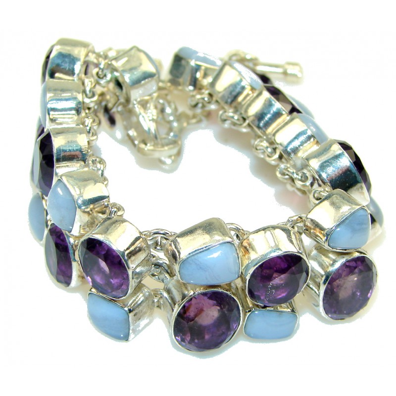 Aura Of Beauty!! Amethyst Sterling Silver Bracelet