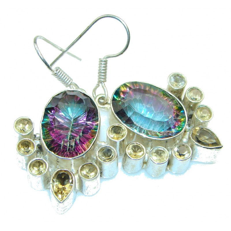 Excellent!! Rainbow Magic Topaz Sterling Silver earrings