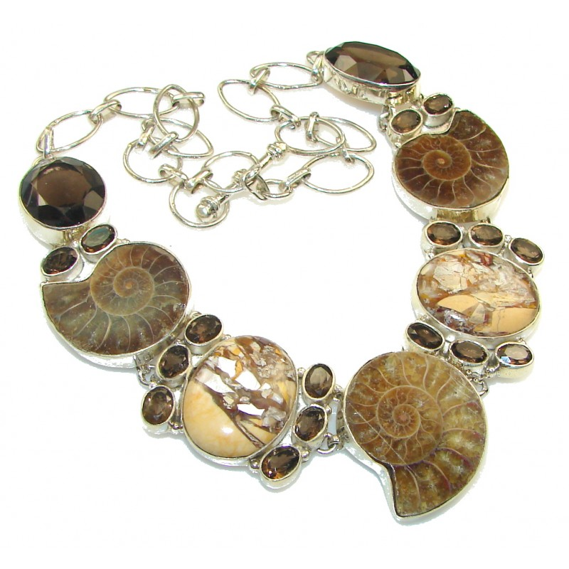 Awesome!! Ammonite Fossil Sterling Silver necklace