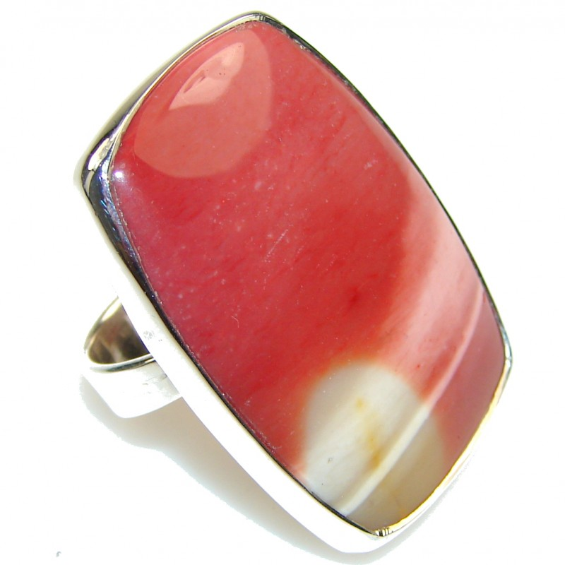 Secret!! Australian Mookaite Sterling Silver Ring s. 6 1/2
