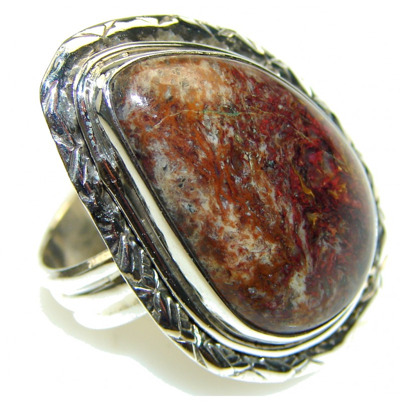 Opening Night! Pietersite Sterling Silver Ring s. 7 1/4