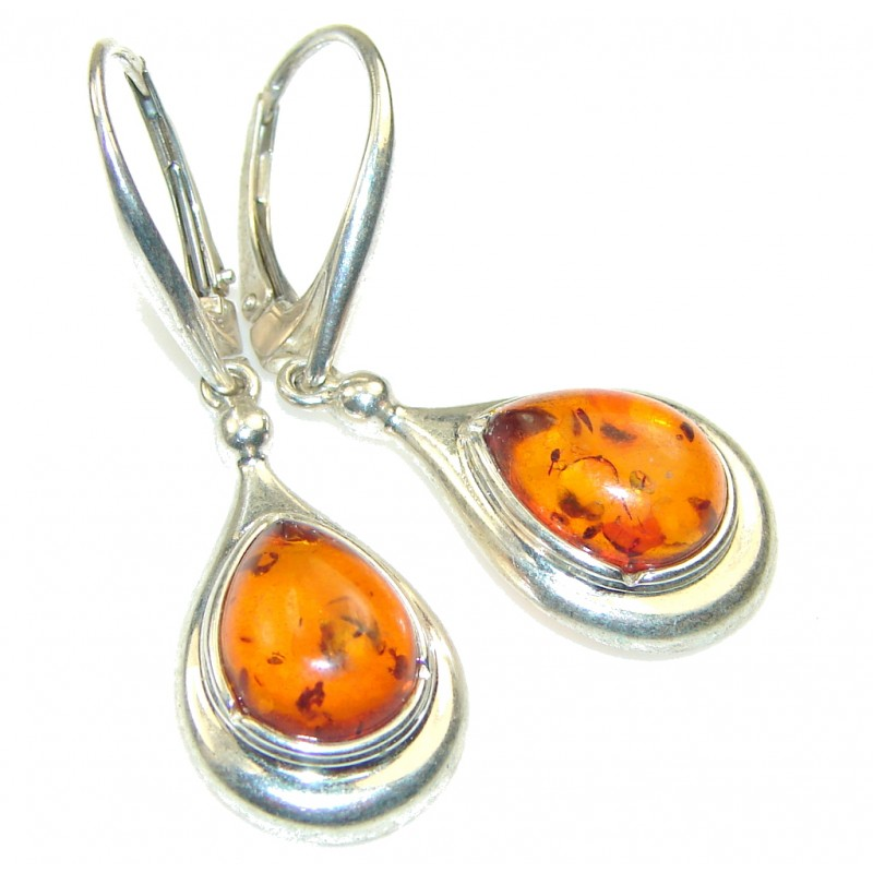 Gently! Polish Amber Sterling Silver earrings