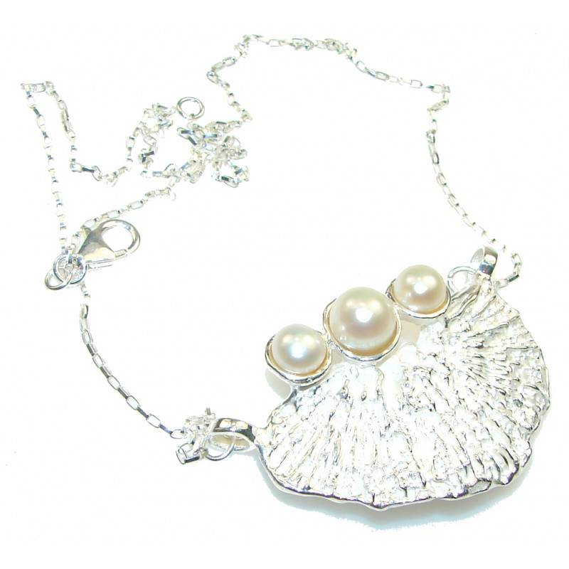 Path Of Life!! Fresh Water Pearl Sterling Silver Necklace