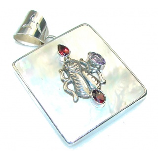 Fashion!! Blister Pearl Sterling Silver pendant