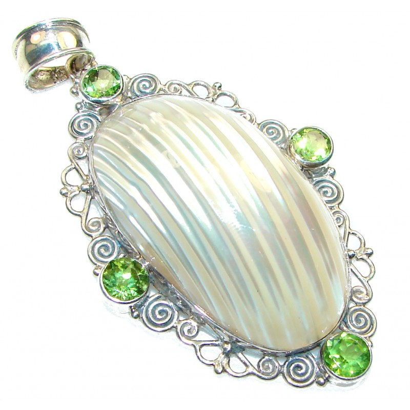 Perfect! Silver Ocean Shell Sterling Silver Pendant