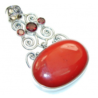 Pale Beauty!! Red Jasper Sterling Silver Pendant