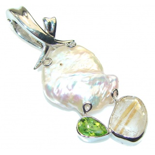 Secret Design Mother Of Pearl Sterling Silver Pendant