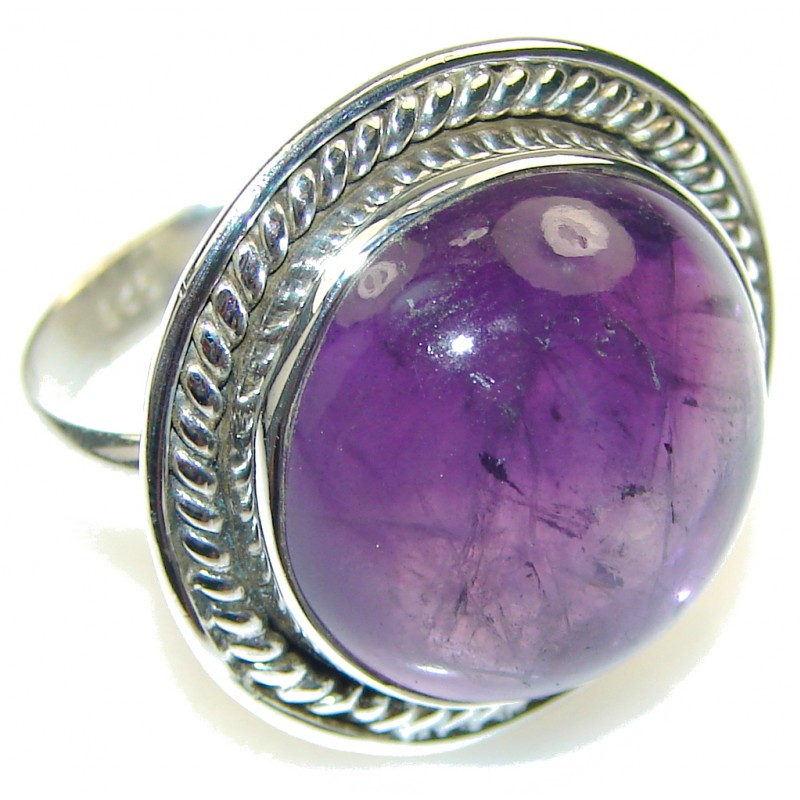 Pale Beauty!! Amethyst Sterling Silver ring; size 9