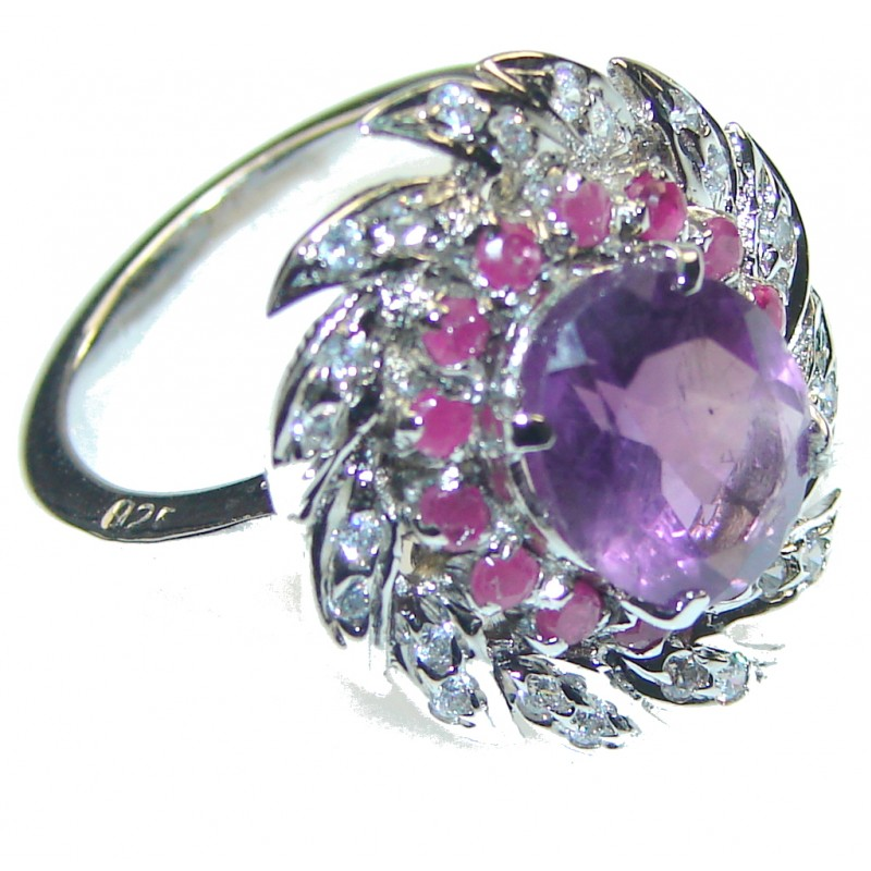 Lavender Dream! Purple Amethyst Sterling Silver ring; size 6 1/4