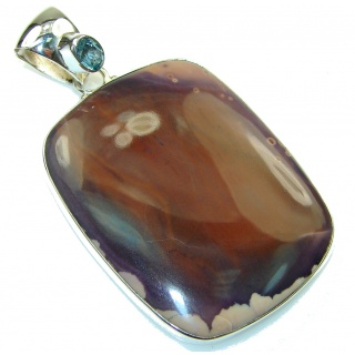 New Fashion Bertrandite Sterling Silver Pendant