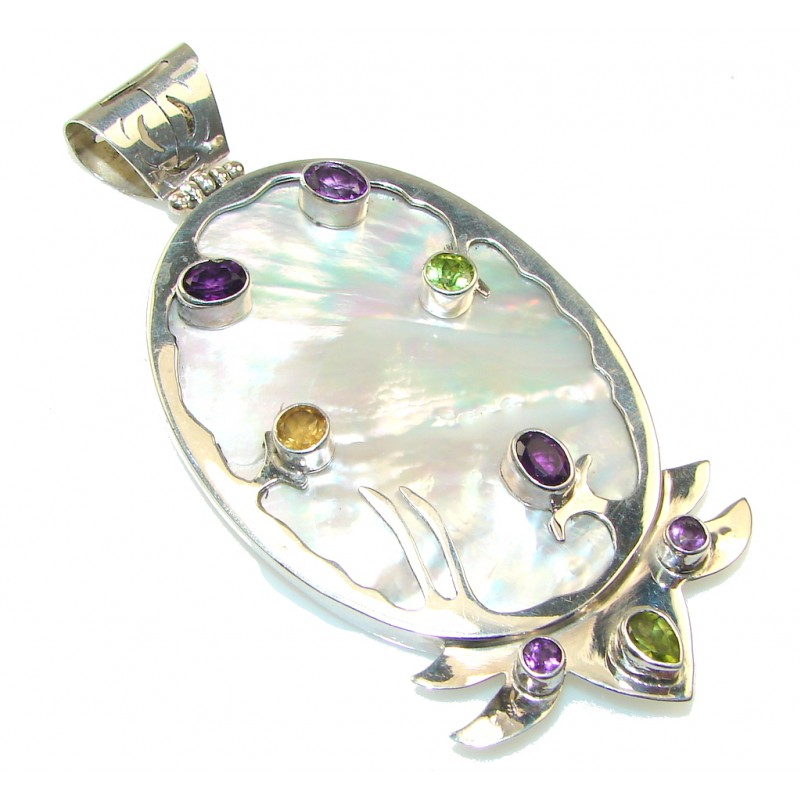 Large! Secret Blister Pearl Sterling Silver pendant