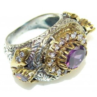 Victorian Style! Alexandrite Quartz Sterling Silver Ring s. 8 1/2
