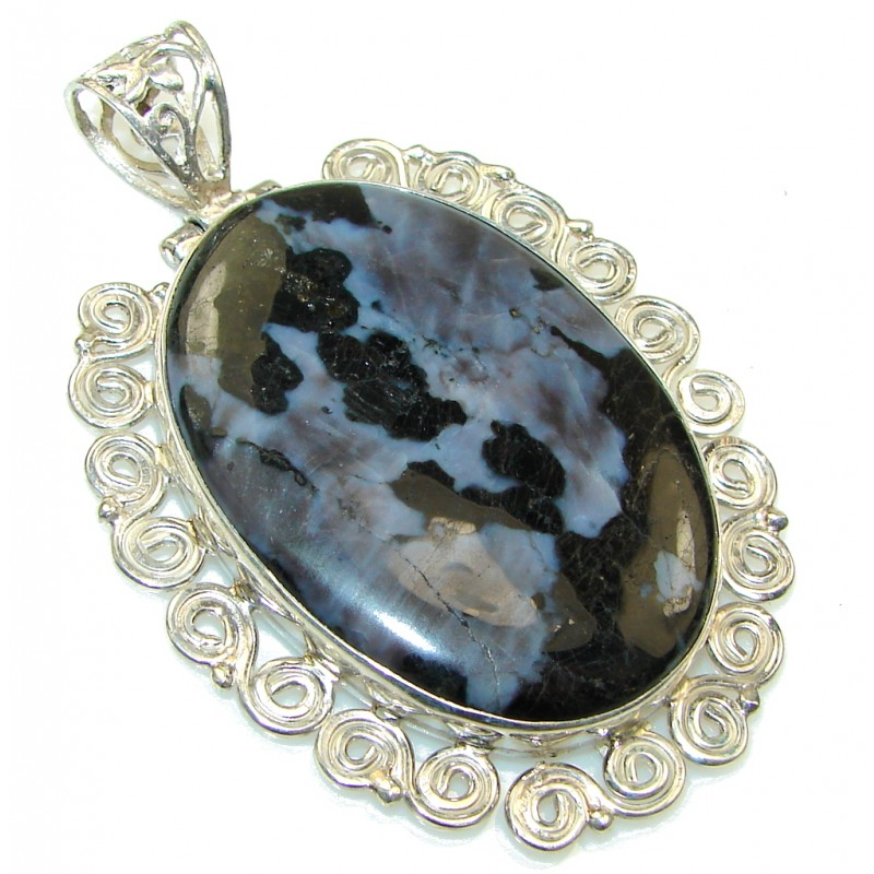 Special Moment!! Black Obsidian Sterling Silver Pendant