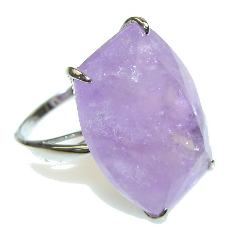 Just Perfect! Purple Amethyst Sterling Silver ring; size 9 1/4
