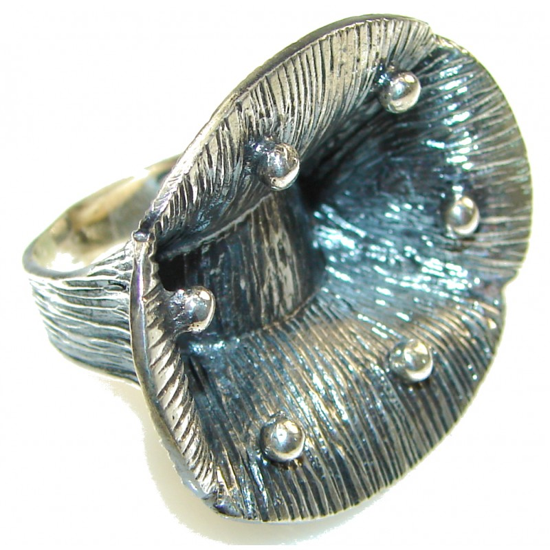 Big! Fashion Design!! Silver Sterling Silver ring s. 6