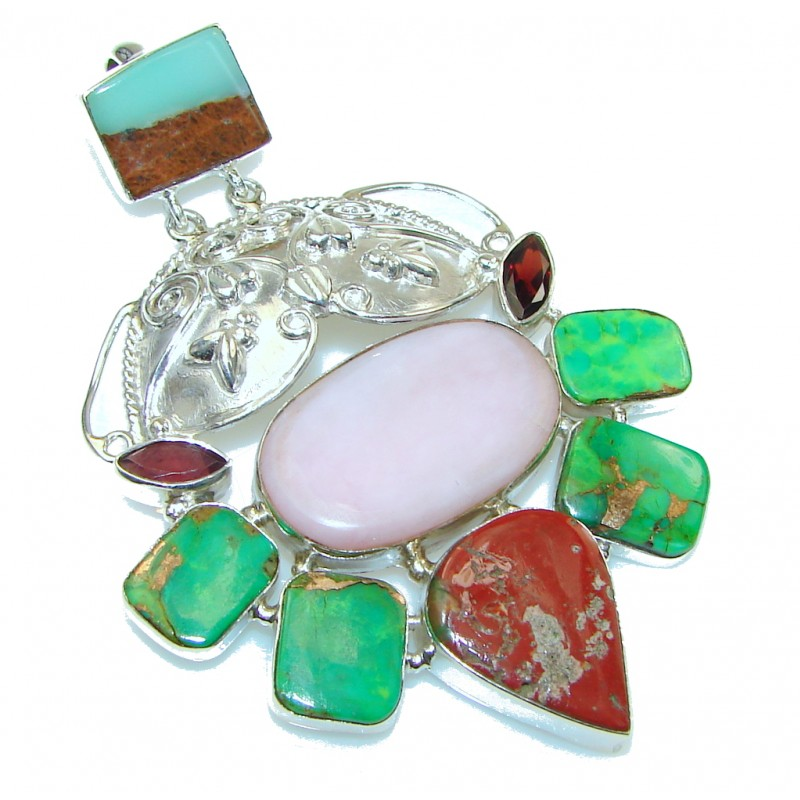 Aura Of Beauty Multistone Sterling Silver Pendant