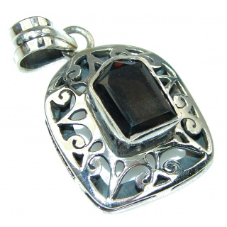 Simple Delight! Smoky Topaz Sterling Silver Pendant