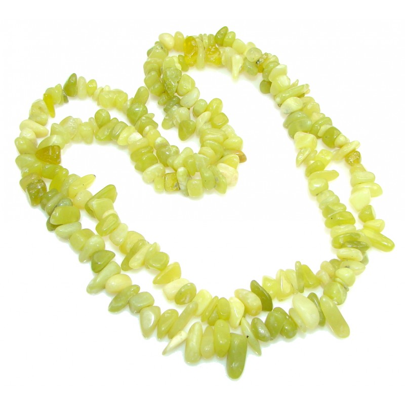Fresh Green Jade Beads Strand Necklace