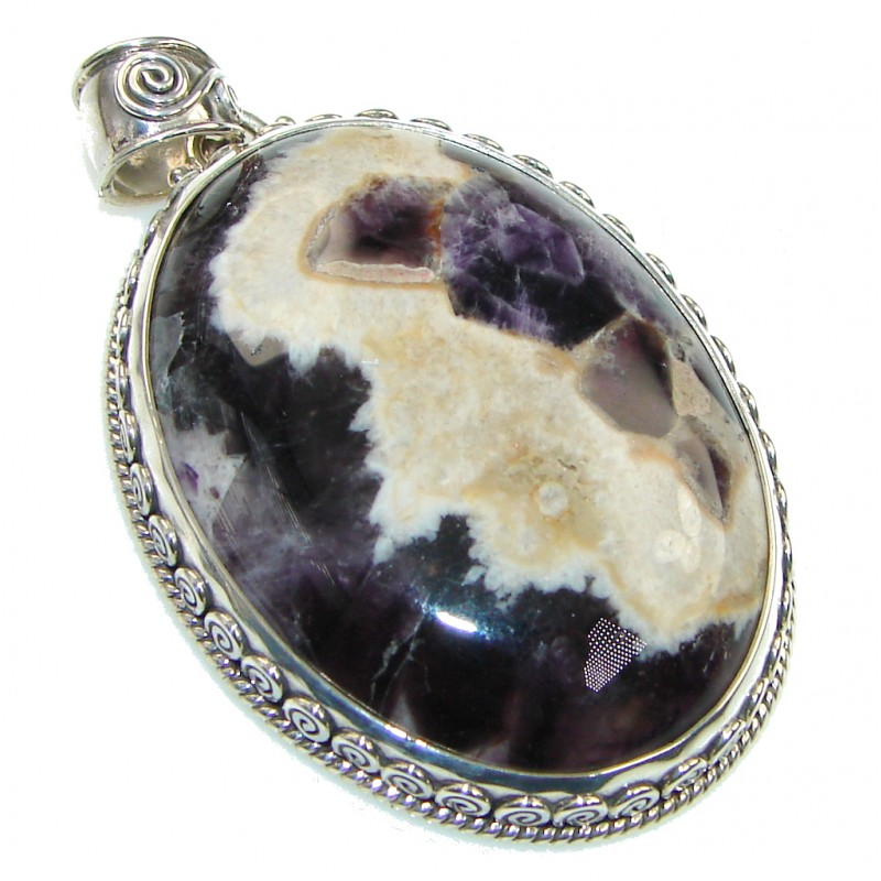 Gorgeous! Purple Amethyst Sterling Silver Pendant