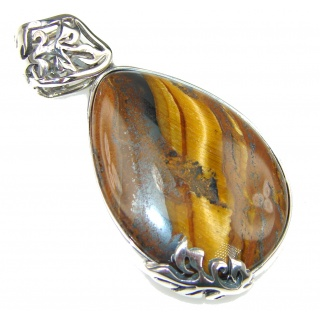 Brown Vision Tigers Eye Sterling Silver Pendant