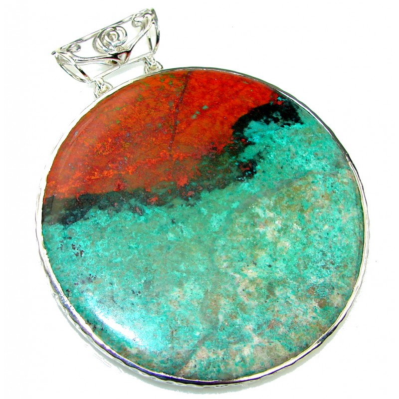 Large! Stunning! Red Sonora Jasper Sterling Silver Pendant