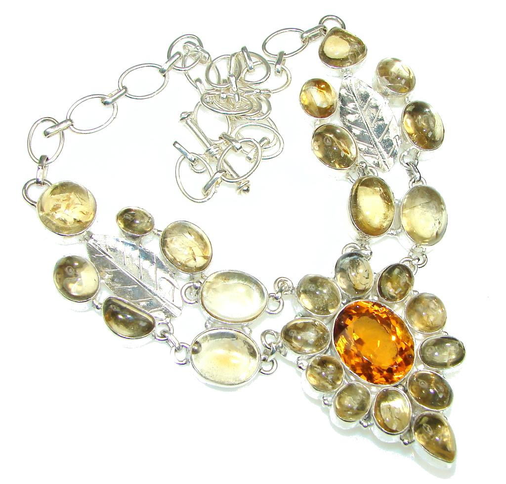 Perfect design golden rutilated quartz honey topaz for Golden rutilated quartz jewelry