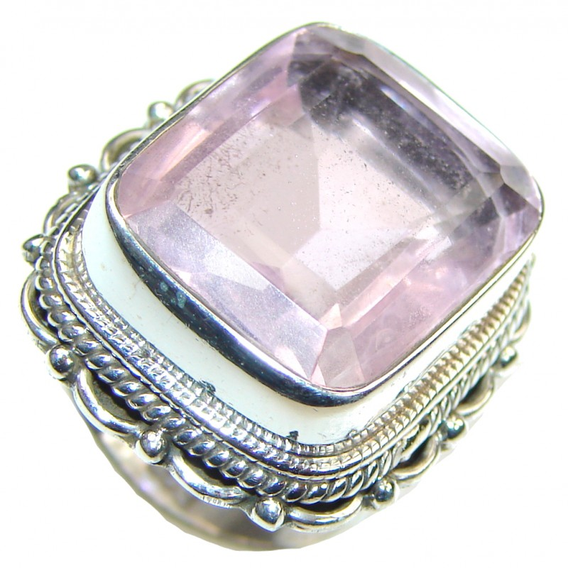 Expression Of Sympathy!! Light Pink Topaz Sterling Silver ring; size 7 1/4