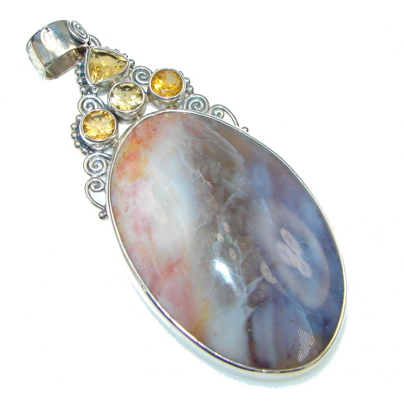 Exclusive! Montana Agate Sterling Silver Pendant