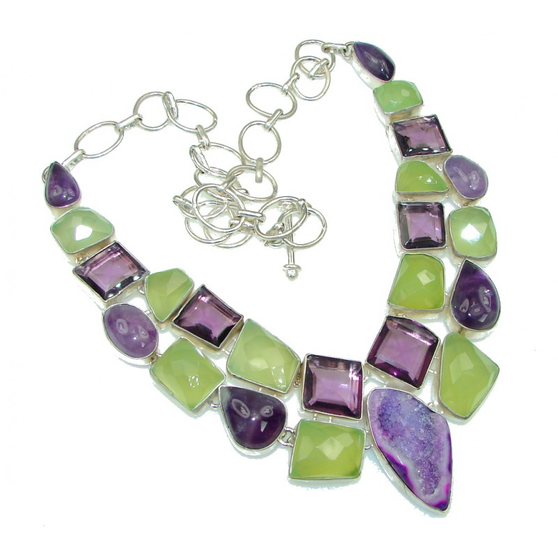 Summer Allure! Multigem Sterling Silver Necklace