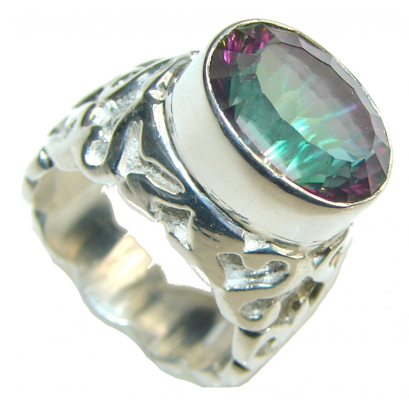 Purple Spell! Rainbow Magic Topaz Sterling Silver ring s. 8 1/4
