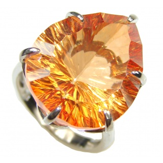 Pale Beauty! Golden Topaz Sterling Silver Ring s. 8 1/2