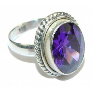 True Emotion! Created Alexandrite Sterling Silver Ring s. 8 1/4
