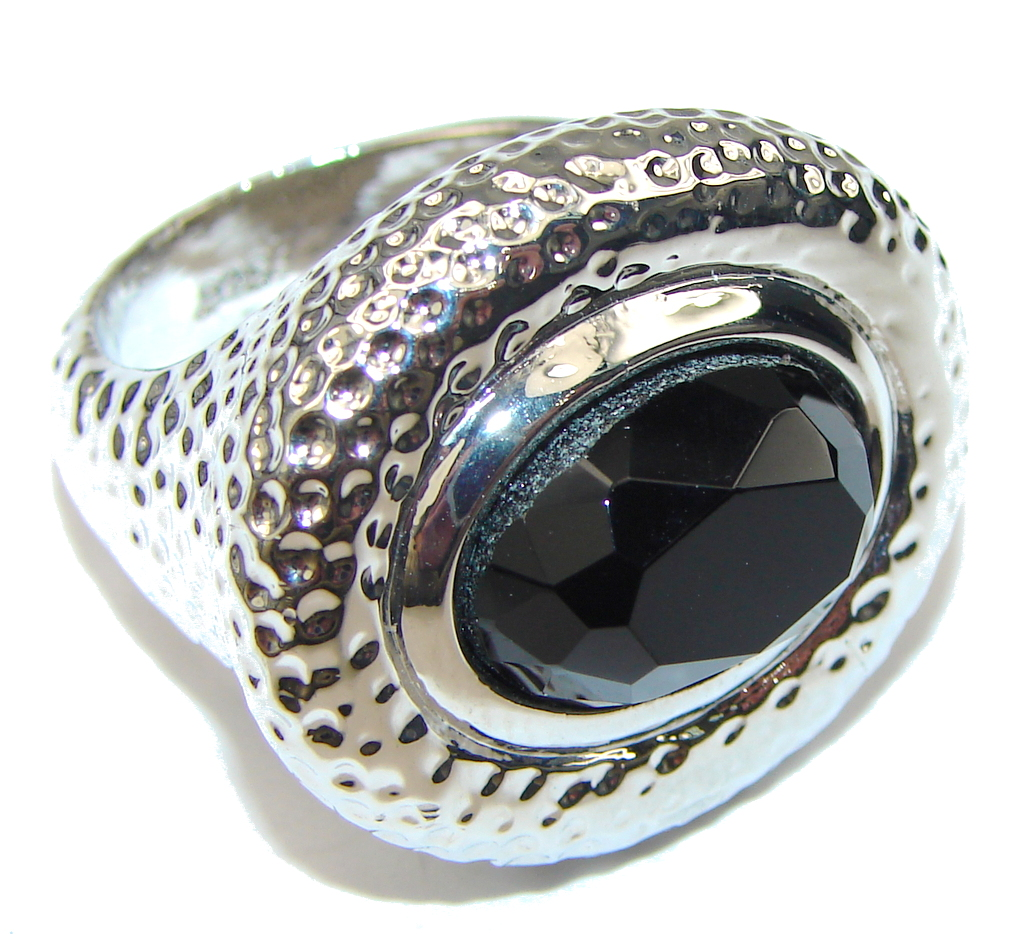 just heavy silver hematite sterling silver ring s
