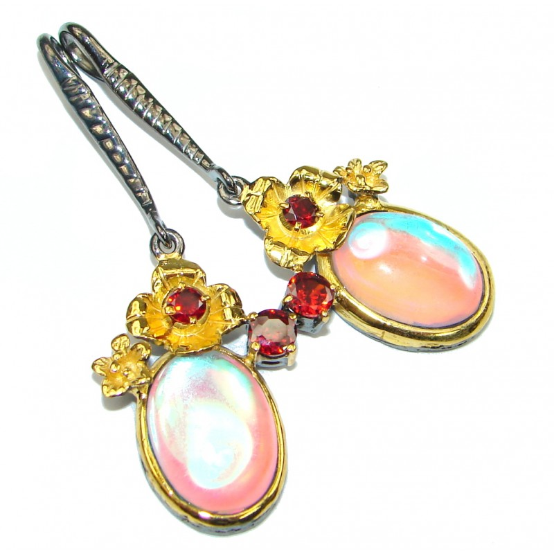 Enchanted Treasure Color changing QuartzGold Plated Sterling Silver earring
