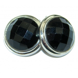 Perfect! Black Onyx Sterling Silver earrings