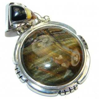 Secret! AAA Tigers Eye Sterling Silver Pendant