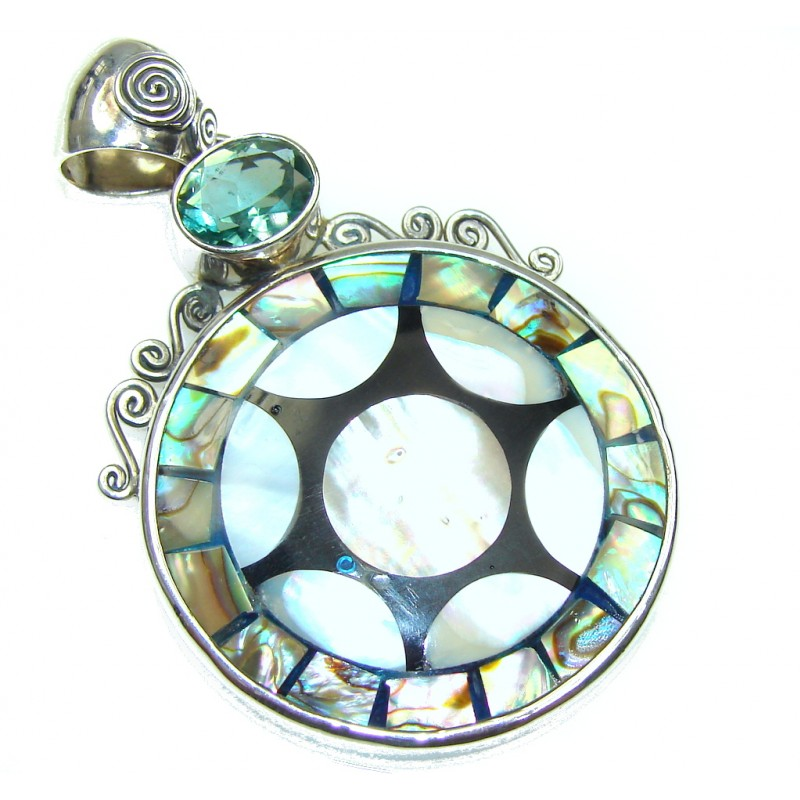 Secret Rainbow Abalone Sterling Silver Pendant