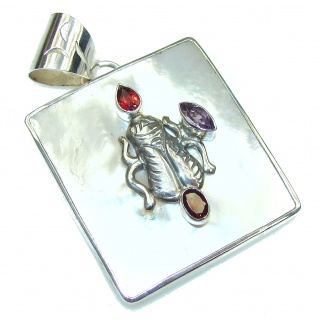 Pale Beauty! Blister Pearl Sterling Silver pendant