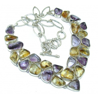 Amelia Purple Ametrine Sterling Silver necklace